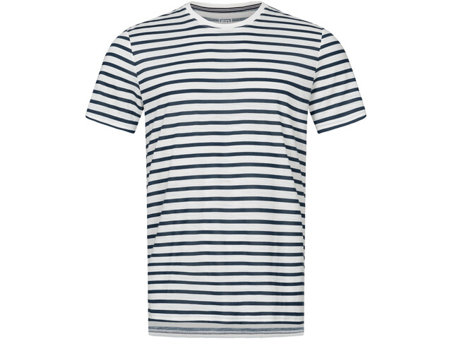 super.natural Comfort Print T-Shirt Herren fresh white/navy blazer fine stripe print